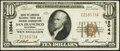 National Bank Notes:California, San Francisco, CA - $10 1929 Ty. 1 Bank of America National Trust & Savings Assoc Ch. # 13044 Very Fine-Extremely Fine...