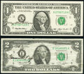 Small Size:Federal Reserve Notes, Mary Ellen Withrow Courtesy Autographed Fr. 1919-K $1 1993 Federal Reserve Note. Choice Crisp Uncirculated;. Francine I. N... (Total: 2 notes)