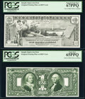 Miscellaneous:Other, 1896 $1 Silver Certificate Face Intaglio Impression From Original Plate on BEP Card PCGS Superb Gem New 67PPQ;. 1896 $1 Si... (Total: 2 items)