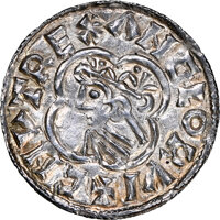 Great Britain: Kings of All England. Cnut (1016-1035) Penny ND (1016-1023) MS64 NGC