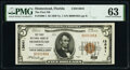 Homestead, FL - $5 1929 Ty. 1 The First National Bank Ch. # 13641 PMG Choice Uncirculated 63