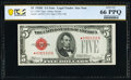 Small Size:Legal Tender Notes, Fr. 1530* $5 1928E Legal Tender Star Note. PCGS Banknote Gem Unc 66 PPQ.. ...