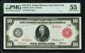 Large Size:Federal Reserve Notes, Fr. 893a $10 1914 Red Seal Federal Reserve Note PMG About Uncirculated 55.. ...