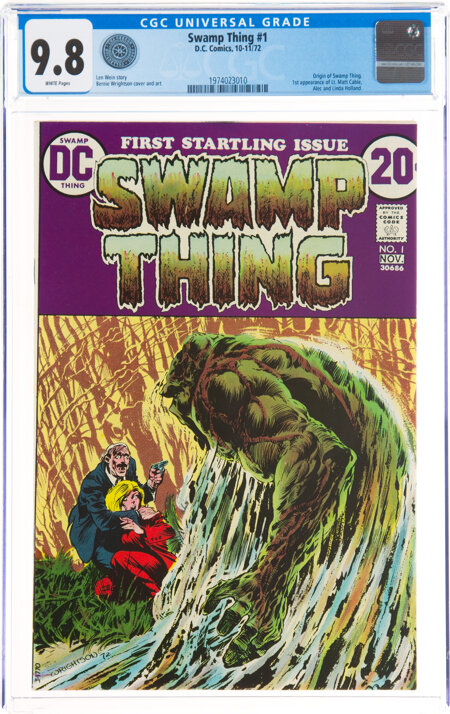 Swamp Thing #1 (DC, 1972) CGC NM/MT 9.8 White pages....