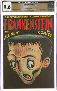 Frankenstein Comics #1 The Promise Collection Pedigree (Prize, 1945) CGC NM+ 9.6 White pages