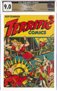 Terrific Comics #5 The Promise Collection Pedigree (Continental Magazines, 1944) CGC VF/NM 9.0 White pages
