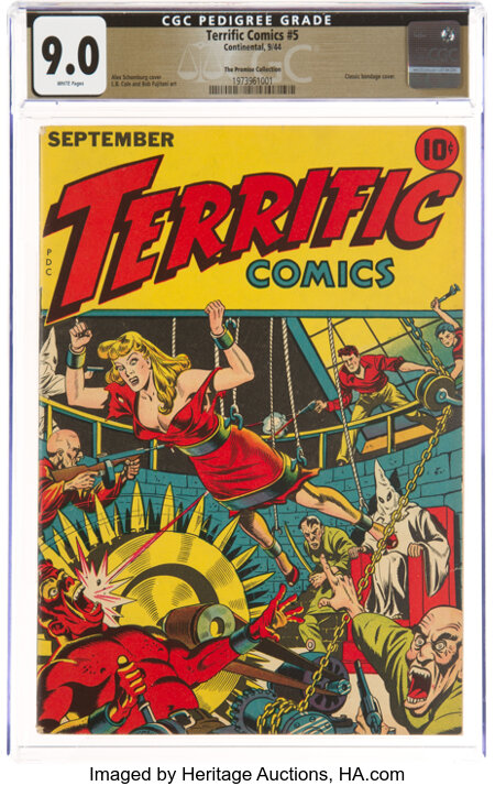 Terrific Comics #5 The Promise Collection Pedigree (Continental Magazines, 1944) CGC VF/NM 9.0 White pages....