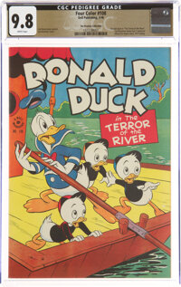 Four Color #108 Donald Duck - The Promise Collection Pedigree (Dell, 1946) CGC NM/MT 9.8 White pages