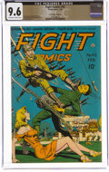 Golden Age (1938-1955):War, Fight Comics #42 The Promise Collection Pedigree (Fiction House, 1946) CGC NM+ 9.6 Off-white to white pages....
