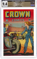 Golden Age (1938-1955):Adventure, Crown Comics #7 The Promise Collection Pedigree (McCombs Publishing, 1946) CGC NM 9.4 Off-white to white pages....