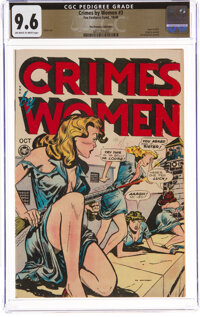 Crimes by Women #3 The Promise Collection Pedigree (Fox Features Syndicate, 1948) CGC NM+ 9.6 Off-white to white pages...