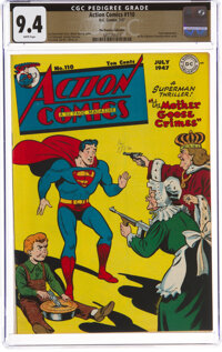 Action Comics #110 The Promise Collection Pedigree (DC, 1947) CGC NM 9.4 White pages