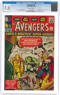 The Avengers #1 (Marvel, 1963) CGC FN/VF 7.0 Off-white pages