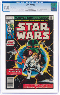 Star Wars #1 35¢ Price Variant (Marvel, 1977) CGC FN/VF 7.0 White pages