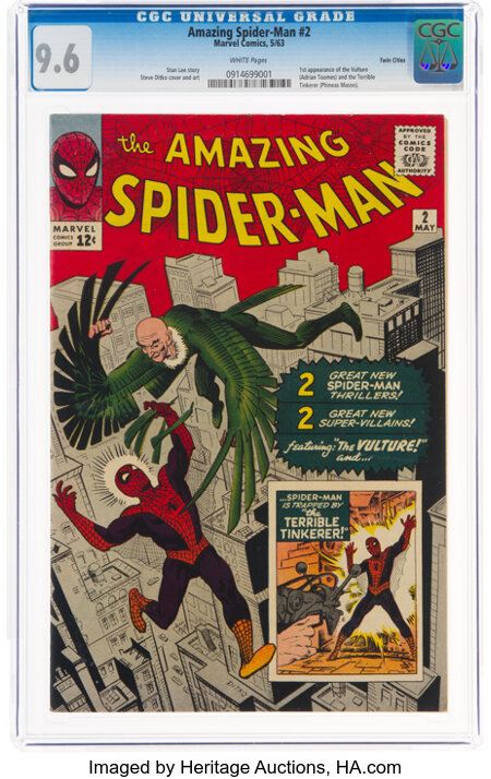 The Amazing Spider-Man #2 Twin Cities Pedigree (Marvel, 1963) CGC NM+ 9.6 White pages....