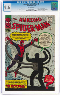 The Amazing Spider-Man #3 (Marvel, 1963) CGC NM+ 9.6 Off-white pages
