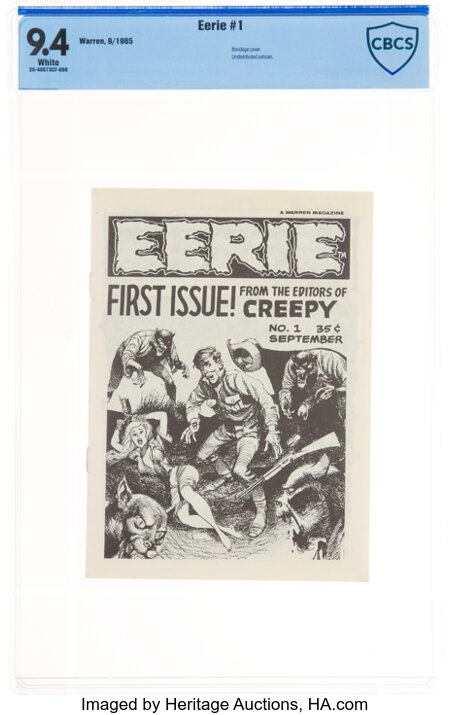 Eerie #1 First Printing (Warren, 1965) CBCS NM 9.4 White pages....