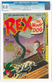Adventures of Rex the Wonder Dog #12 (DC, 1953) CGC VF 8.0 White pages