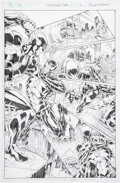 Original Comic Art:Story Page, Bret Booth and Norm Rapmund The Flash: Futures End #1 Story Page 3 Original Art (DC, 2014)....