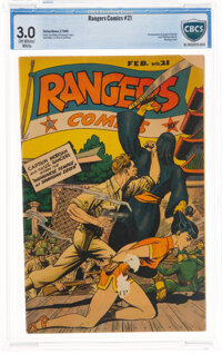 Rangers Comics #21 (Fiction House, 1945) CBCS GD/VG 3.0 Off-white to white pages