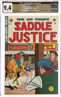 Saddle Justice #4 The Promise Collection Pedigree (EC, 1948) CGC NM 9.4 White pages