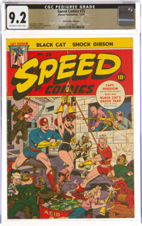 Speed Comics #35 The Promise Collection Pedigree (Harvey, 1944) CGC NM- 9.2 Off-white to white pages