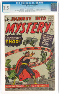 Journey Into Mystery #83 (Marvel, 1962) CGC VG- 3.5 Off-white to white pages