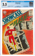 Silver Age (1956-1969):Superhero, Showcase #4 The Flash (DC, 1956) CGC VG- 3.5 Cream to off-white pages....