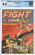 Golden Age (1938-1955):War, Fight Comics #24 (Fiction House, 1943) CGC VG 4.0 Off-white to white pages....
