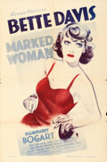 Movie Posters:Crime, Marked Woman (Warner Bros., 1937). Folded, Fine/Very Fine....