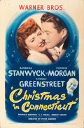 Movie Posters:Comedy, Christmas in Connecticut (Warner Bros., 1945). Folded, Ver...