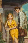 Pulp, Pulp-like, Digests and Paperback Art, Victor Olson (American, 1924-2007). Georgia Hotel: The Affairs of a Traveling Salesman, paperback cover,...