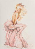 Pin-Up and Glamour Art, Olivia De Berardinis (American, b. 1948). Holly, Playboy study, December 2006. Watercolor and pencil on board. 17-1/4 x ...