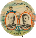 Political:Pinback Buttons (1896-present), Debs & Hanford: Colorful Worker's Jugate....