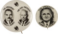 Political:Pinback Buttons (1896-present), Harry S Truman and Thomas Dewey: Pair of 1948 Campaign Buttons.... (Total: 2 Items)