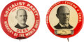 Political:Pinback Buttons (1896-present), Eugene V. Debs: Pair of Picture Pins.... (Total: 2 Items)