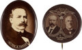 Political:Pinback Buttons (1896-present), Parker & Davis: Real Photo Jugate and Picture Pin....