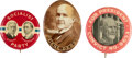 Political:Pinback Buttons (1896-present), Eugene V. Debs and Allen Benson: Socialist Party Buttons....