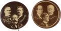Political:Pinback Buttons (1896-present), William McKinley and William Jennings Bryan: Pair of Real Photo Minnesota Coattail Trigates....