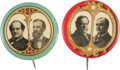 Political:Pinback Buttons (1896-present), Taft & Sherman and Bryan & Kern: Colorful Jugates from the Golden Age Election of 1908.... (Total: 2 Items)