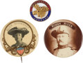 Political:Pinback Buttons (1896-present), Theodore Roosevelt: Three Badges....
