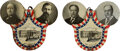"""Political:Pinback Buttons (1896-present), Taft & Sherman and Bryan & Kern: Pair of """"My Choice"""" Mechanical Jugate Badges.... (Total: 2 Items)"""