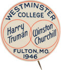 Political:Pinback Buttons (1896-present), Harry S Truman: Westminster College One-Day Event Button....
