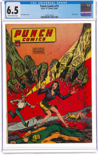 Punch Comics #19 (Chesler, 1946) CGC FN+ 6.5 Slightly brittle pages