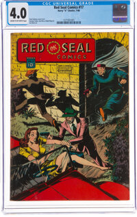 Red Seal Comics #17 (Chesler, 1946) CGC VG 4.0 Cream to off-white pages