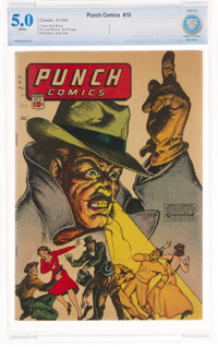 Punch Comics #10 (Chesler, 1944) CBCS VG/FN 5.0 White pages