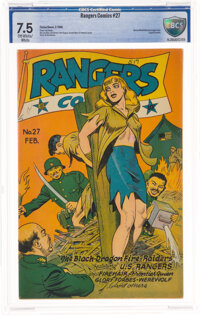 Rangers Comics #27 (Fiction House, 1946) CBCS VF- 7.5 Off-white to white pages