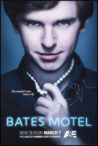 """Bates Motel Season 4 (A&E Television Networks, 2016). Rolled, Very Fine-. Signed Television Poster (24"""" X 3..."""