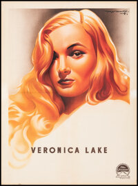 """Veronica Lake Personality Poster (Paramount, 1944). Fine+ on Linen. French Moyenne (23"""" X 31"""") Roger Soubie Ar..."""