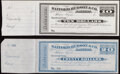 Tuscon, AZ (Territory)- Safford, Hudson & Co. Bankers $10; $20 in Mexican Silver 18__ Remainders Crisp Uncirculated...